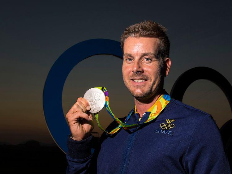 Henrik Stenson med silvermedaljen