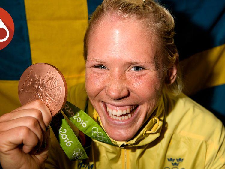 Jenny Fransson med bronsmedaljen