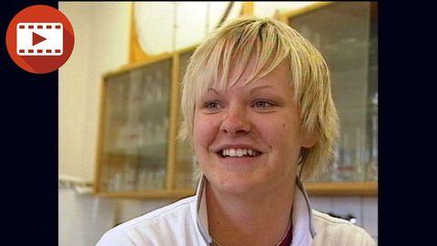 Nilla Fischer, 16, intervjuas i Lilla Sportspegeln