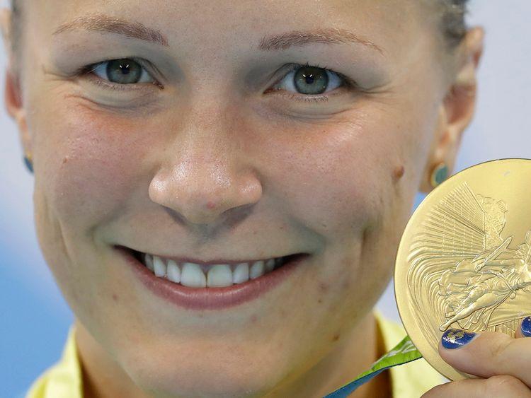 Sarah Sjöström med guldet
