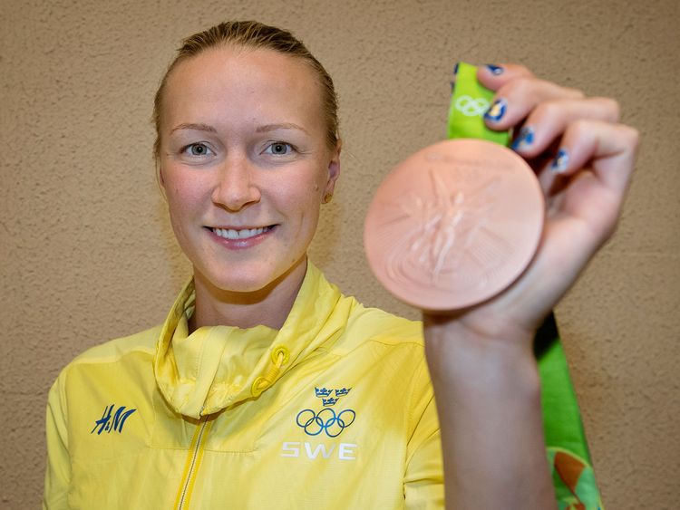 Sarah med bronset