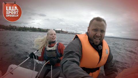 Niklas prövar på segling i premiären.