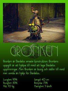Gronken, Daidalos nya robot.