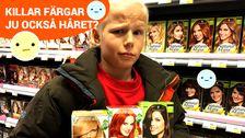 Varför är det nästan bara tjejer på hårfärgsförpackningarna?