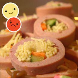 Falukorvs-sushi