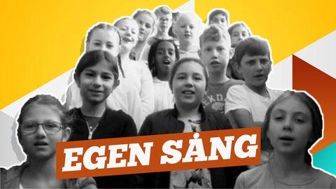 Femmorna på Lillegårdsskolan i Partille firar FN-dagen