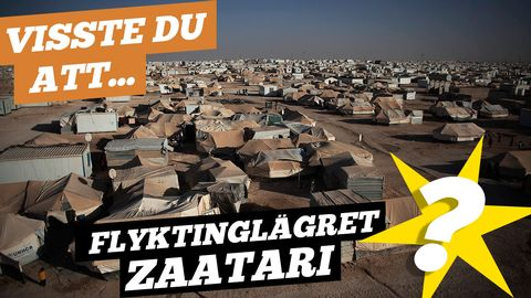 Visste du att det här flyktinglägret är lika stort som Linköping?