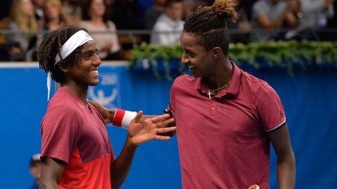 Bröderna Ymer under finalen av Stockholm Open