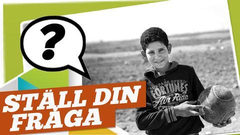 Fråga Ahmad om hans liv i ett flyktingläger