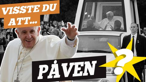 Visste du att Påvens bil kallas Påvemobilen? (Foto: TT).