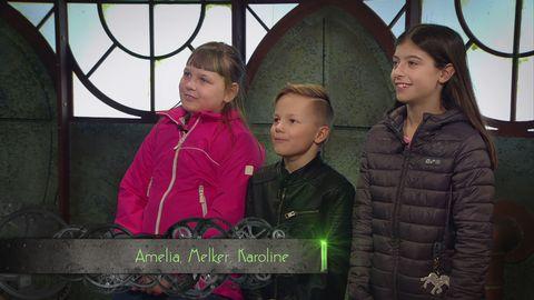 Amelia, Melker och Karoline