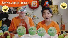 Äppeljuice-test