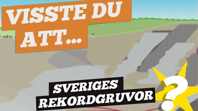 Visste du detta om gruvorna i Sverige?