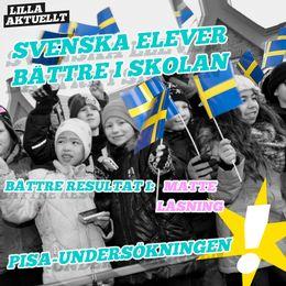 I årets undersökning har Sverige blivit bättre på läsning och i matte. I naturvetenskap är det typ som tidigare år.