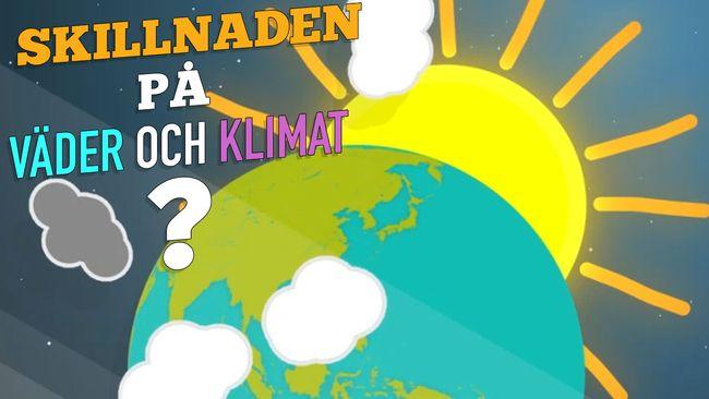 Vet du vad skillnaden på väder och klimat är?