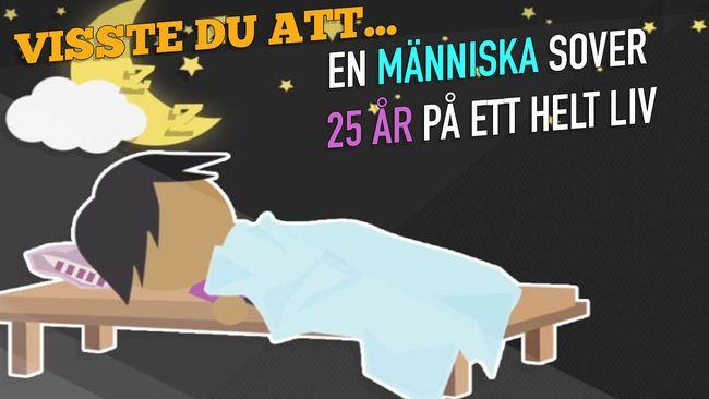 Har du koll på hur mycket vi sover? En människa sover 25 år på ett liv