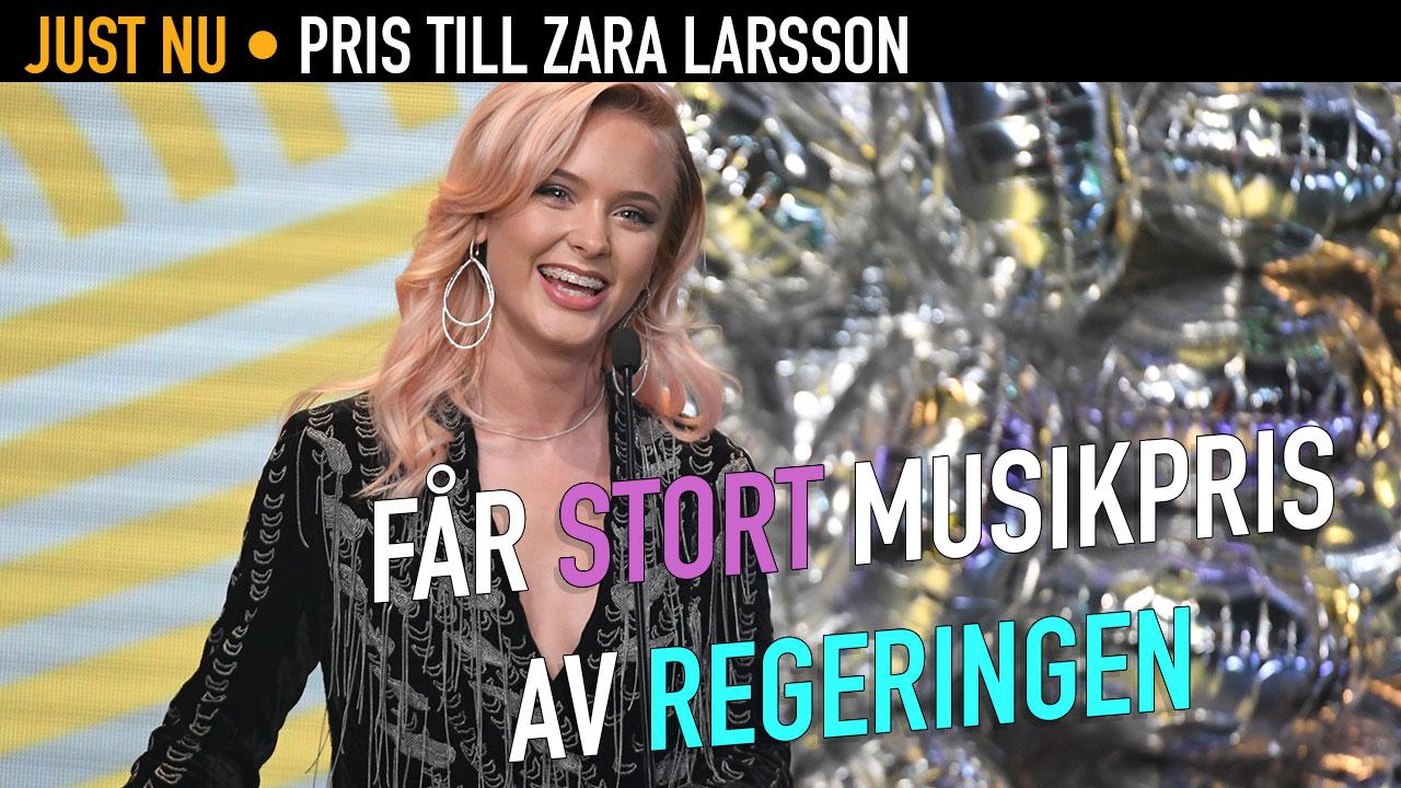 Zara Larsson är en av landets största popstjärnor. Nu får hon det svenska exportpriset.