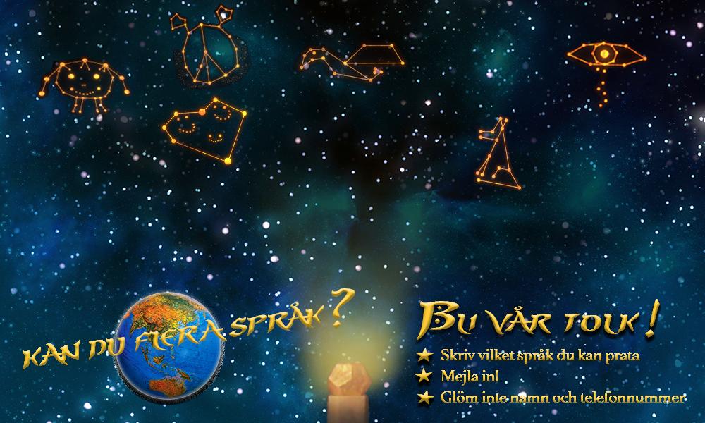 Alla stjärnbilder - bli vår tolk och hjälp oss att sätta språklås på bilderna