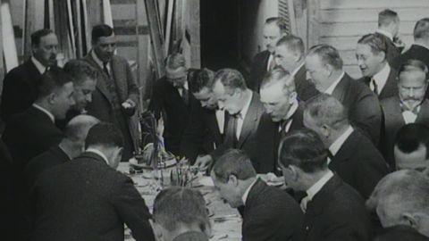 Riksdagsmannalunch på Långängsateljén 1920