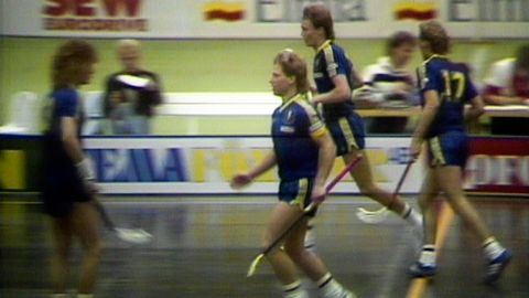 Reportage: Sverige - Finland i innebandy 1988