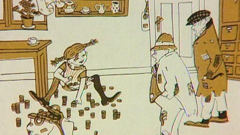 Pippi får besök av tjuvar