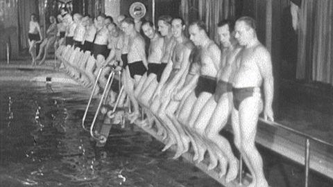 Simfrämjandets morgonbadarklubb 1947