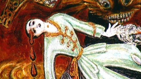 Avsnitt 8 av 12: Dam i rosa pyjamas mördande herre i svarta / Begravning i Senlis