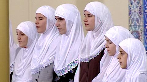 Muslimsk gudstjänst inför Qadirnatten