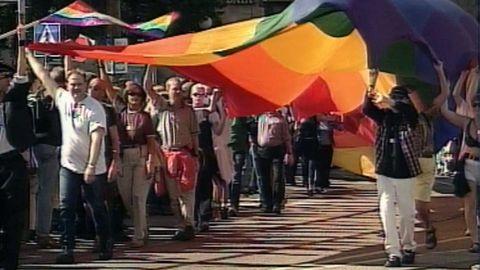 Den första Prideparaden 1998