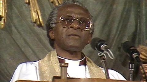 Desmond Tutu: Tal till Olof Palme