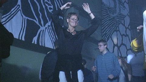 Schyman på rave 1996