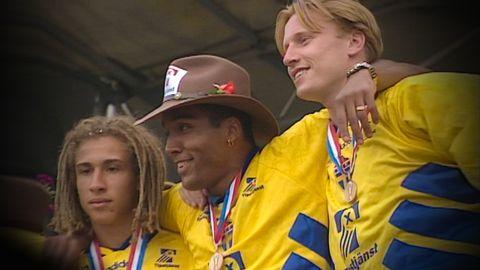 Hemkomst efter VM-brons i fotboll 1994