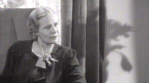 Alva Myrdal pratar om storbarnkammare