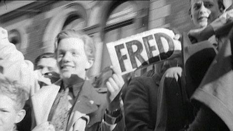 Fredsdagen 1945 firas i Stockholm