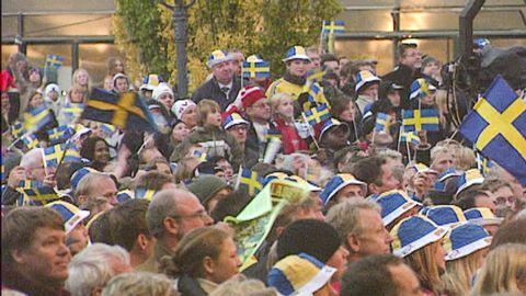 Fotbollslandslaget hyllas efter VM-silver 2003
