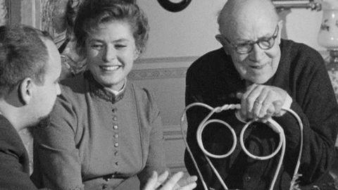 Ingrid Bergman och Gustaf Molander intervjuas 1964