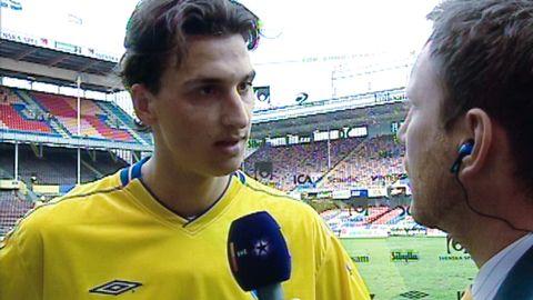 Zlatan intervjuas av Peter Jihde