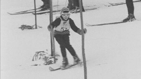 Ingemar Stenmark i Kalle anka-tävlingen 1965