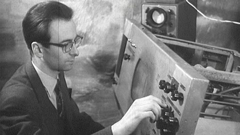 Försökssändning av television 1954