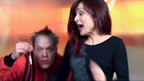 Justine blir skrämd