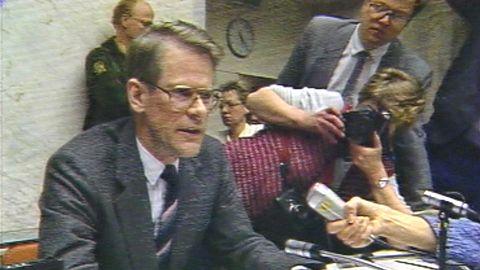 Presskonferens efter Palmemordet