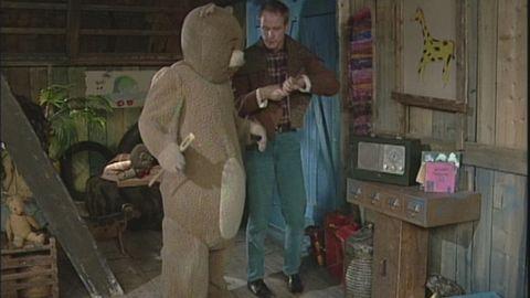 Björne och Robert dansar
