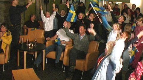 Tärnaby-jubel vid Anja Pärsons OS-guld 2006