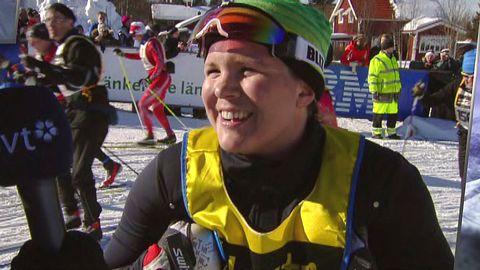 Anja Pärson åker Vasaloppet 2013