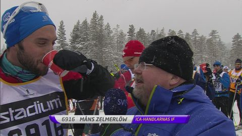 Måns Zelmerlöw i Vasaloppet 2016