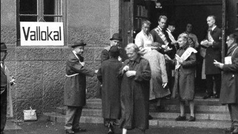 Partiledare röstar 1964