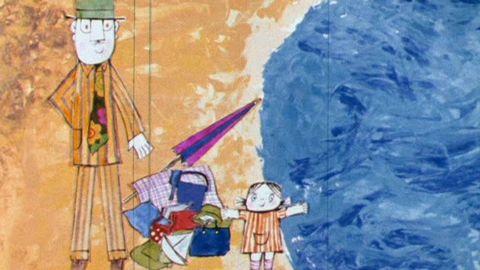 Avsnitt 17 av 20: Lilla Anna och Långa Farbrorn badar i sjön