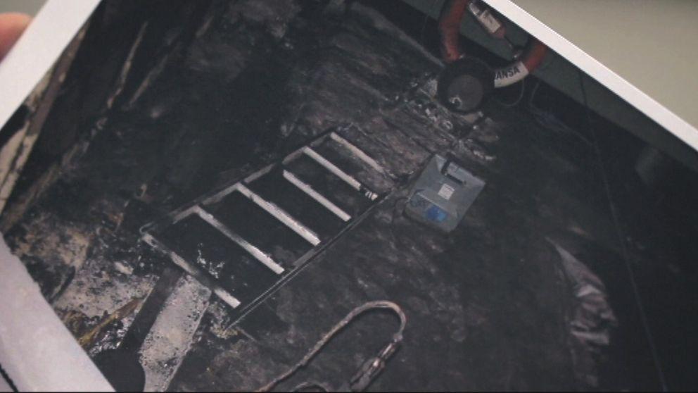 Bilderna inifrån reaktorbyggnaden på Ringhals avslöjar brandens konsekvenser.