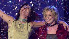 """Friends med """"Lyssna till ditt hjärta"""" vann Melodifestivalen 2001 på Malmö Stadsteater."""