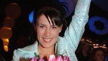 """Jill Johnson vann Melodifestivalen 1998 med låten """"Kärleken är""""."""
